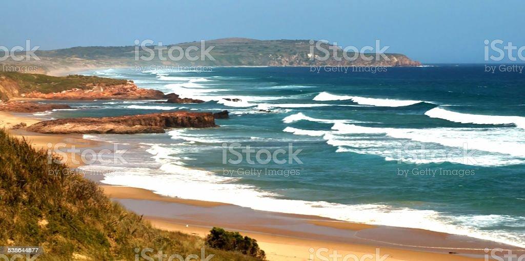 Surf Beach scenery, Phillip Island. stock photo