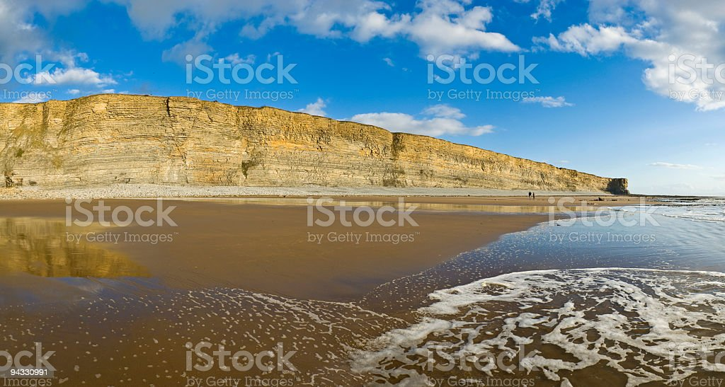 Surf beach walkers cliff royalty-free stock photo