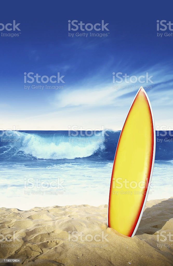 Surf board stock photo