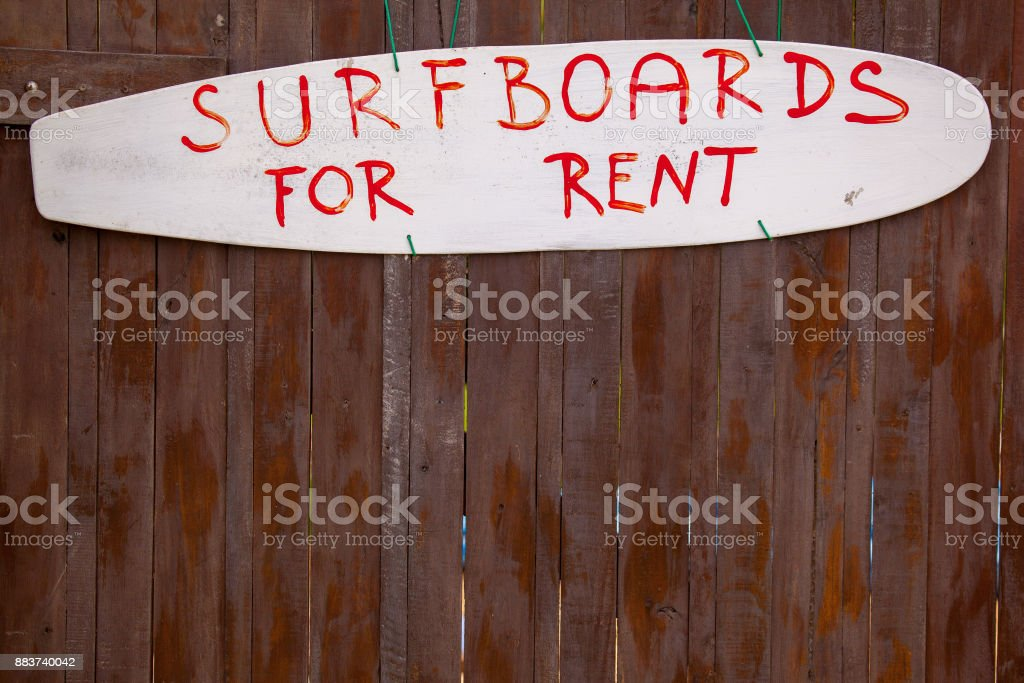 Surf Boards For Rent stock photo