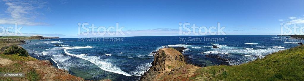 Surf coastline stock photo