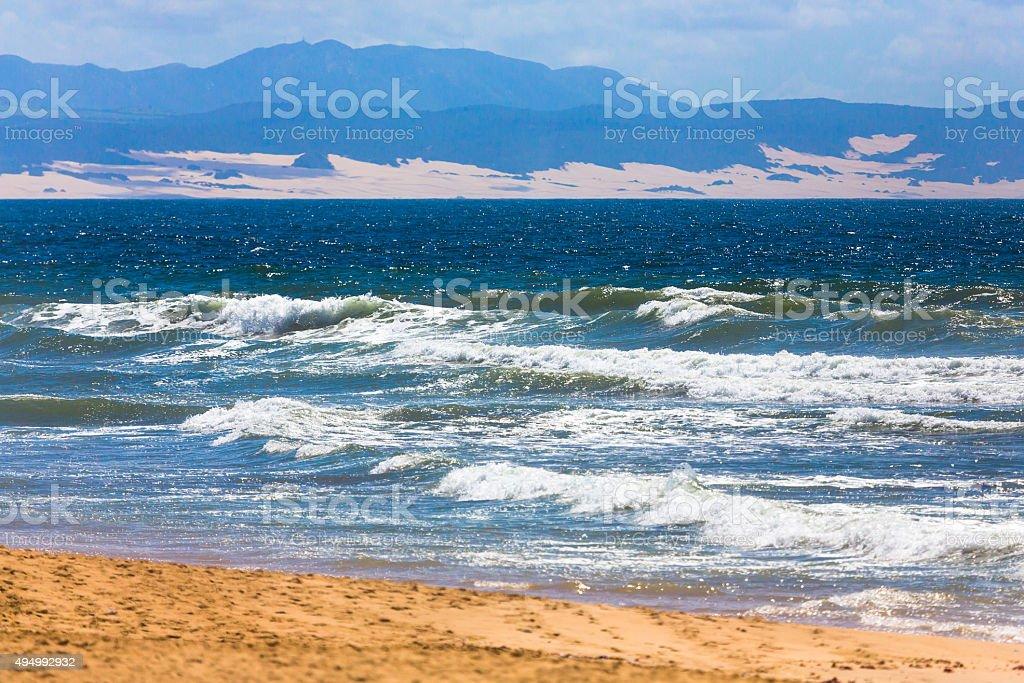 Surf in Jeffreys Bay stock photo