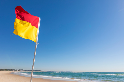Surf Lifesaving flag on the Gold Coast Australia