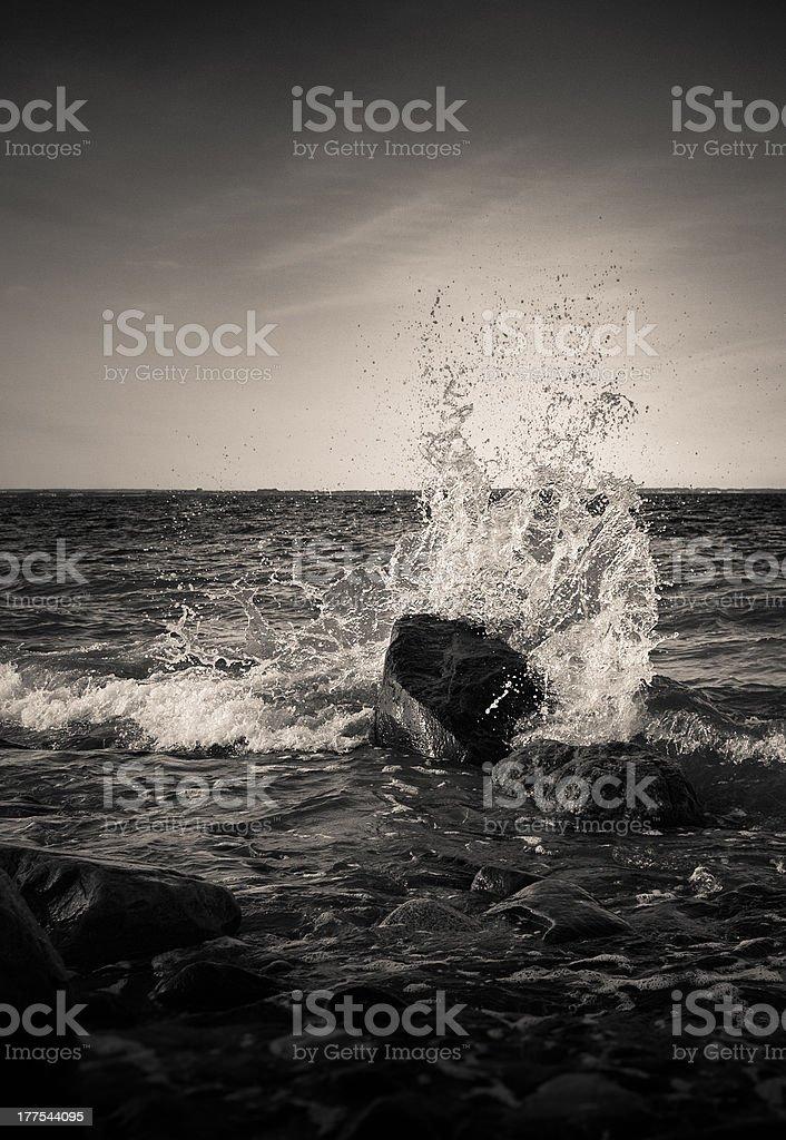 Surf der Lübeck Bay Ostsee - Lizenzfrei Brandung Stock-Foto