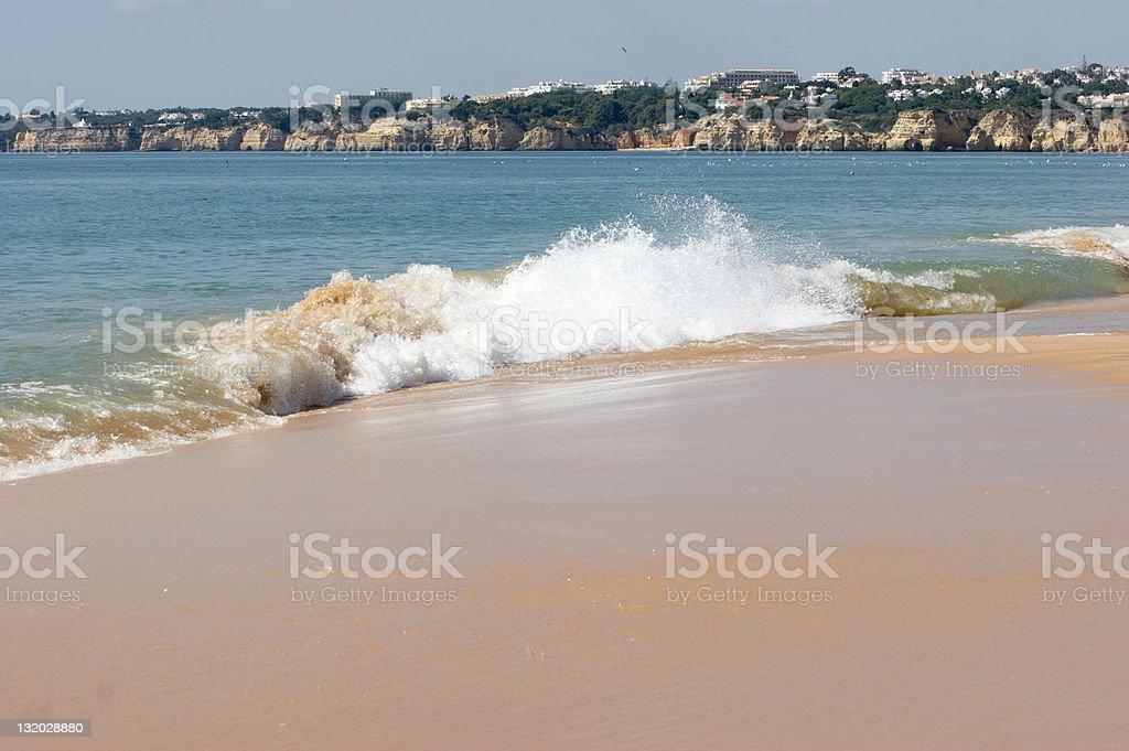Surf on Algarve beach royalty-free stock photo