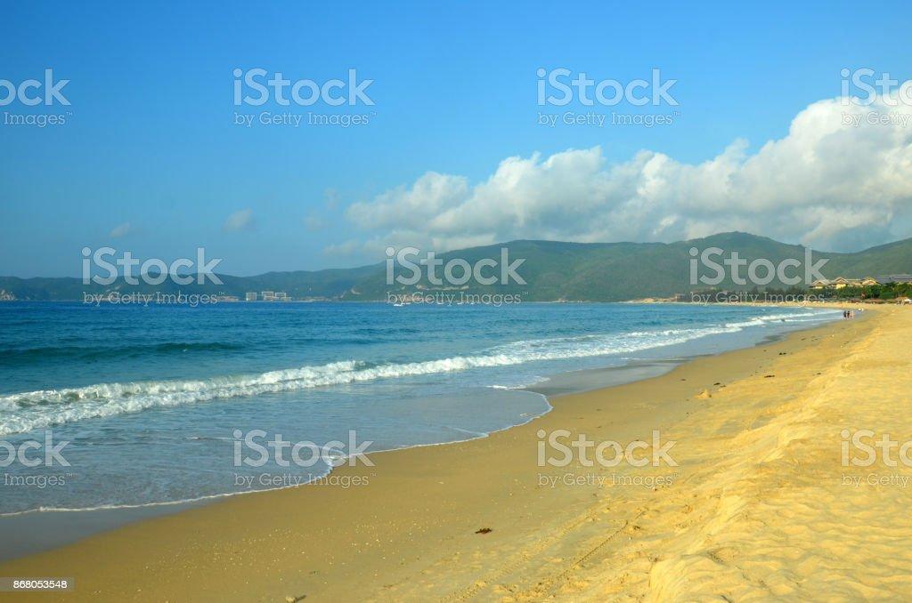 Surf on Hainan Island China, Hainan; Sanya, Yalong Bay, may 2011 stock photo