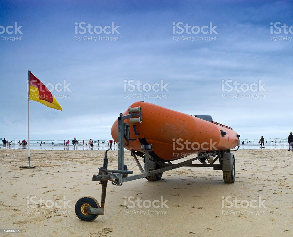 Surf rescue royalty-free stock photo