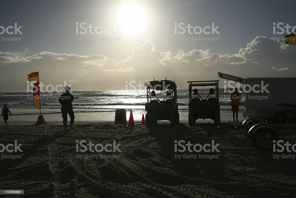 surf rescue workers royalty-free stock photo