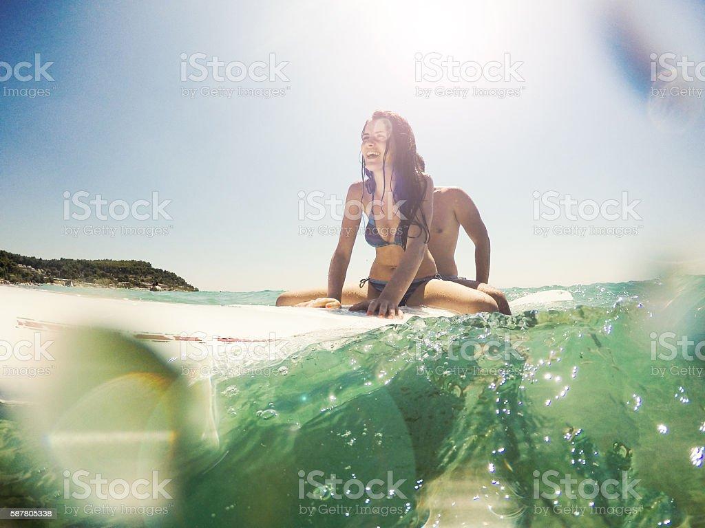 Surf riding stock photo