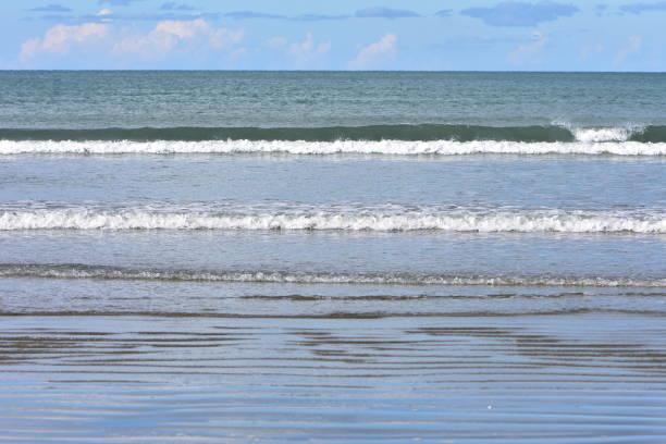 surfen am flachen strand - roll tide stock-fotos und bilder