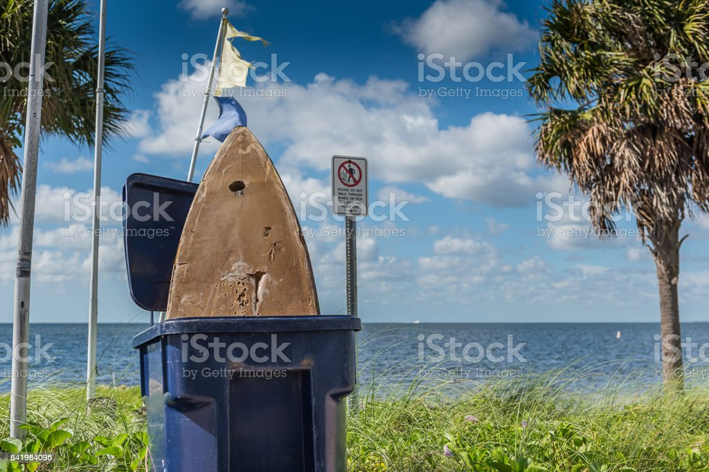 Surf season is over stock photo