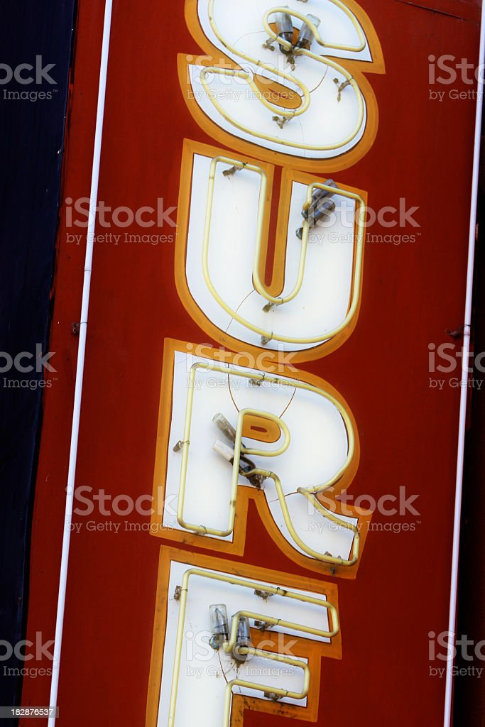 Surf Sign royalty-free stock photo