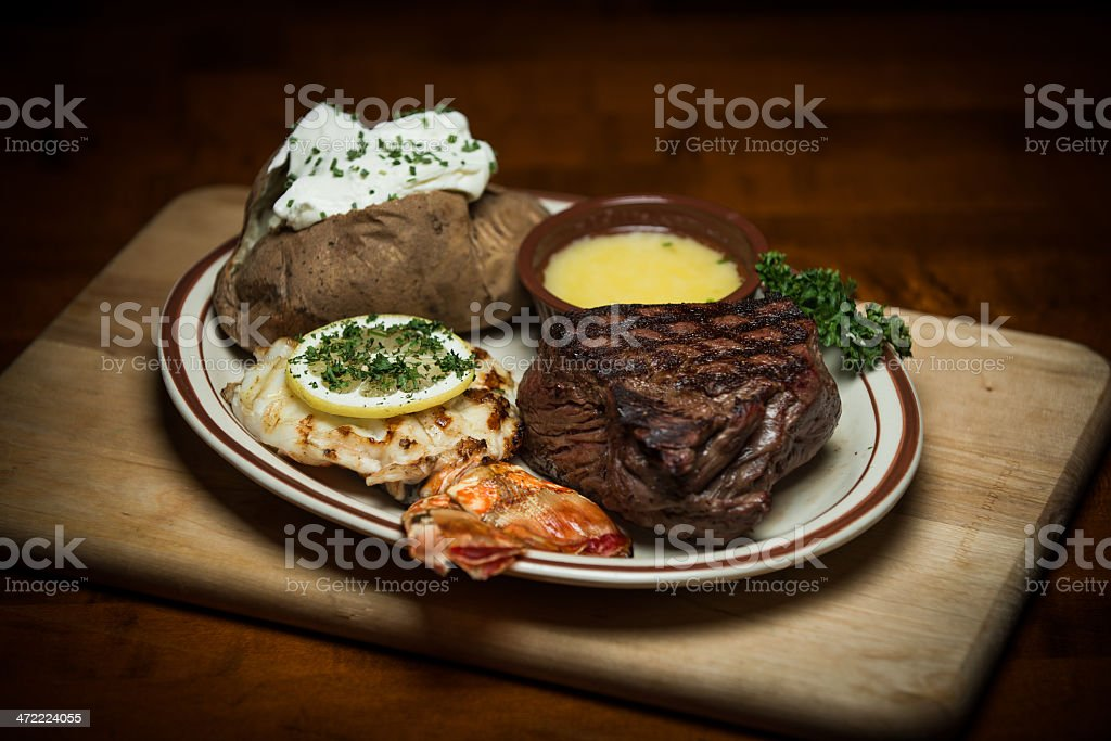 Surf & Turf stock photo