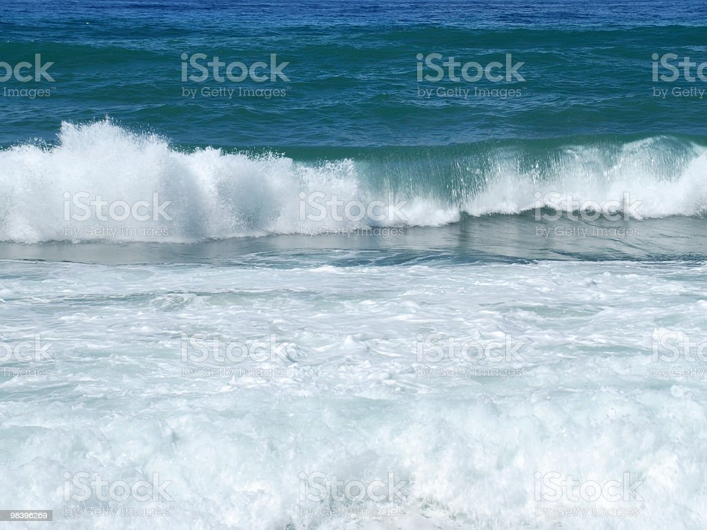 Surf wave in Cornwall England royalty-free stock photo