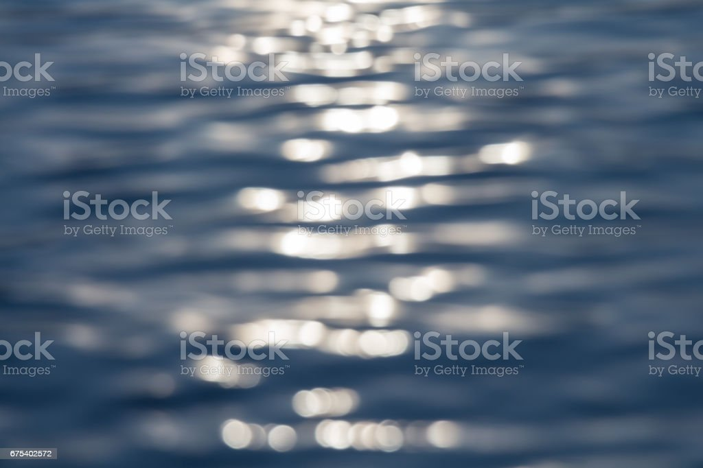 Surface art of water with sunset royalty-free stock photo