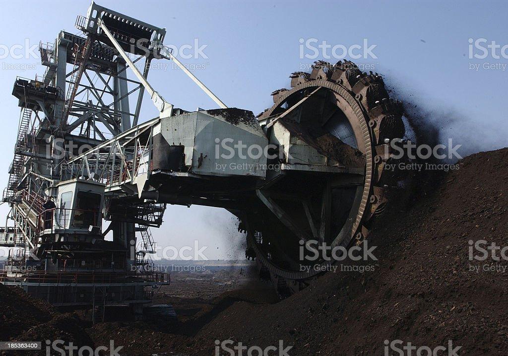 surface coal mining stock photo