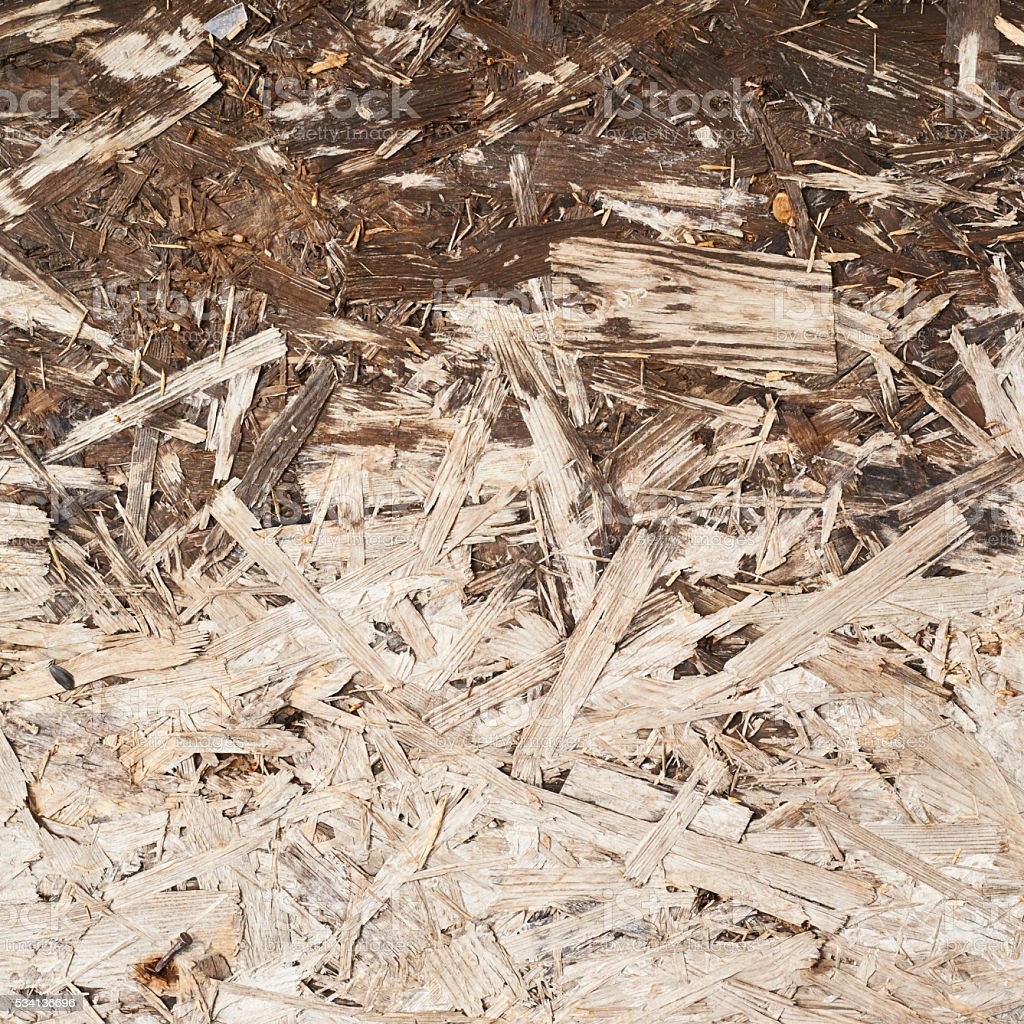 Surface made of pressed wood shavings stock photo