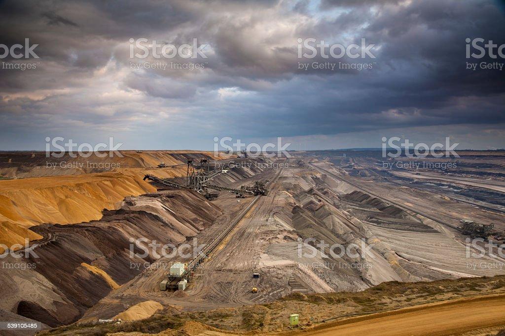 Surface Mine stock photo