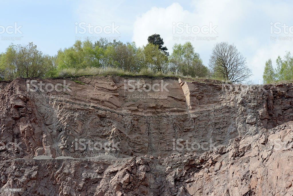 surface mine quarry stock photo