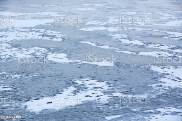 Photo of Surface of a frozen lake