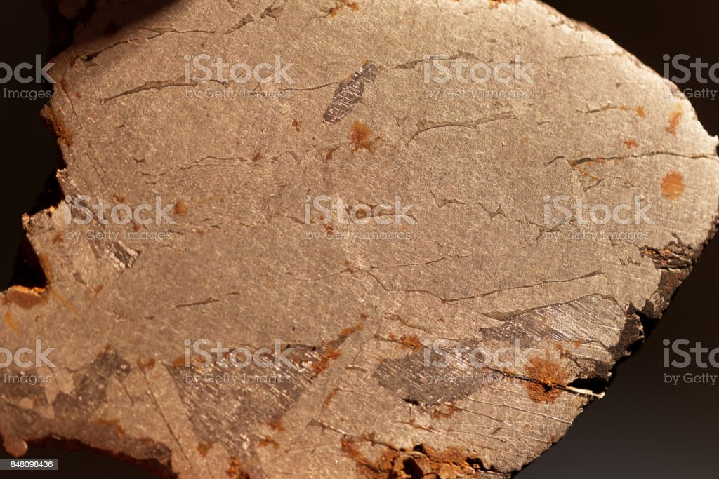 Surface of a Meteorite stock photo