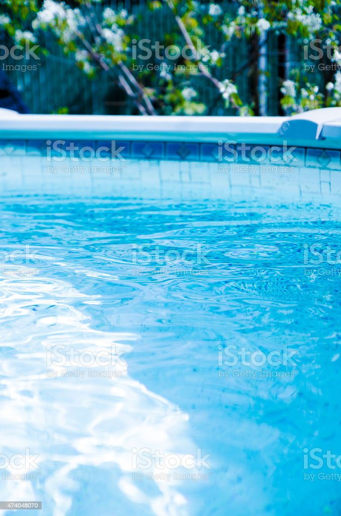Surface of a pool stock photo