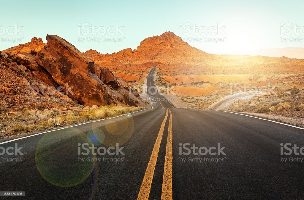 Surface of Driveway, southern Nevada stock photo
