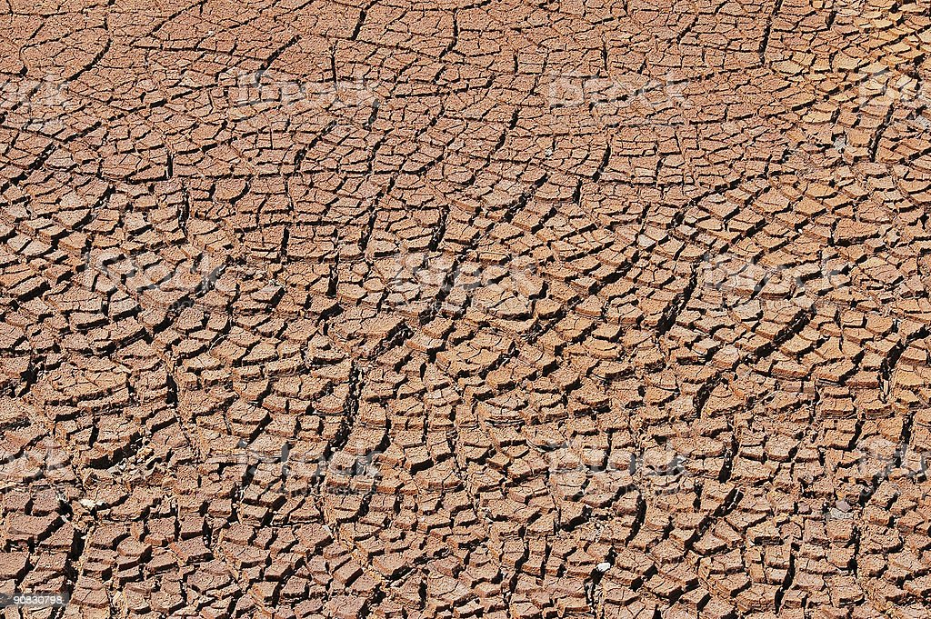 Surface of mars. stock photo