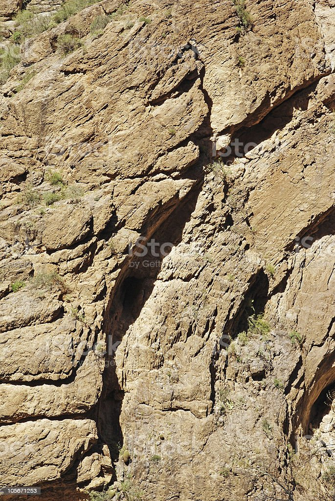 surface of mountain wall royalty-free stock photo