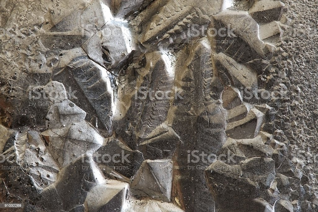 surface of silicon polycrystal royalty-free stock photo