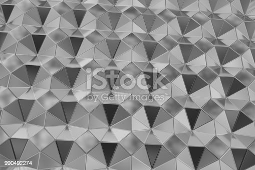 537816275 istock photo Surface of steel octagons. Top view. Abstract background 990492274
