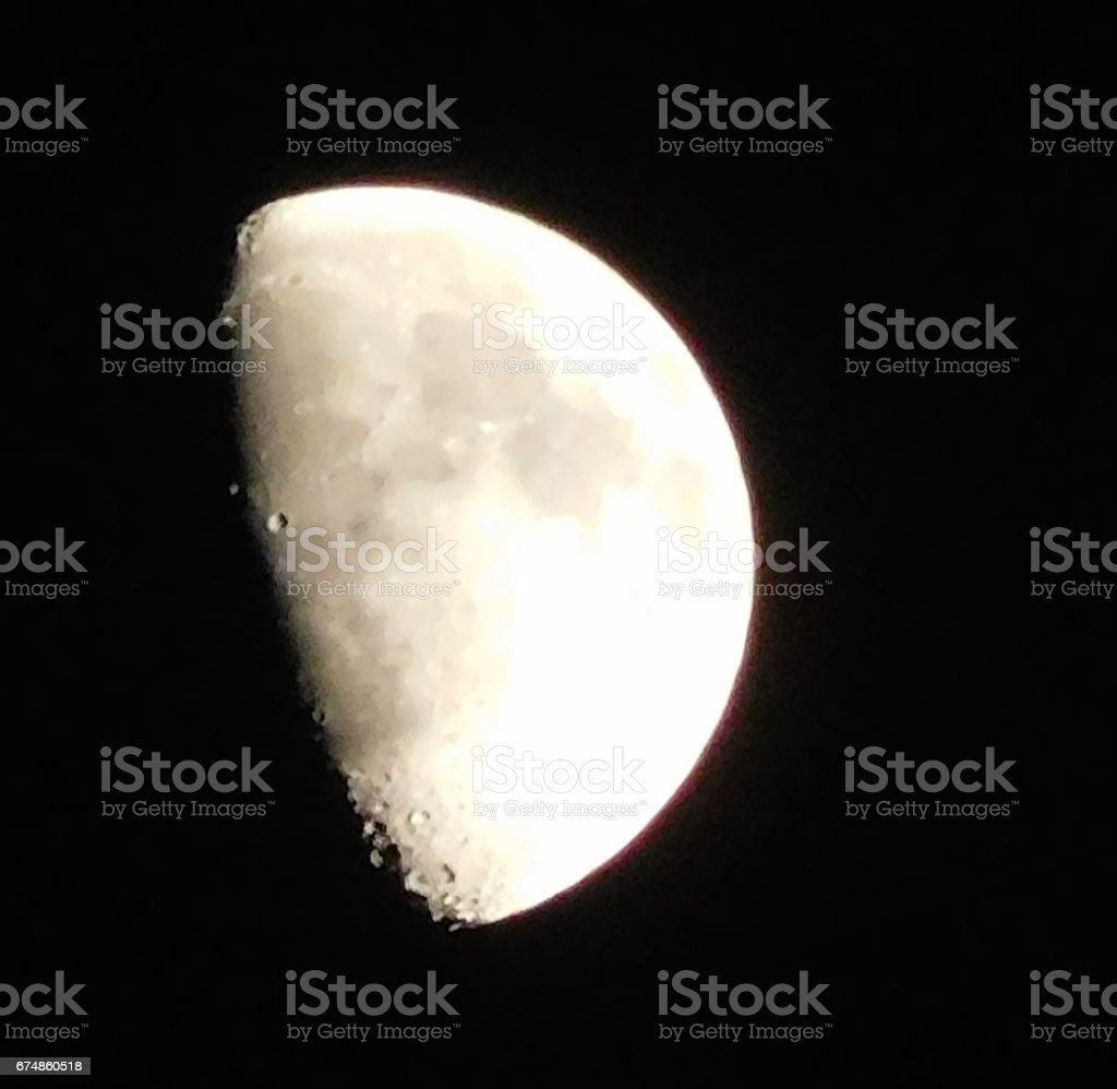 Surface of the Half Moon stock photo