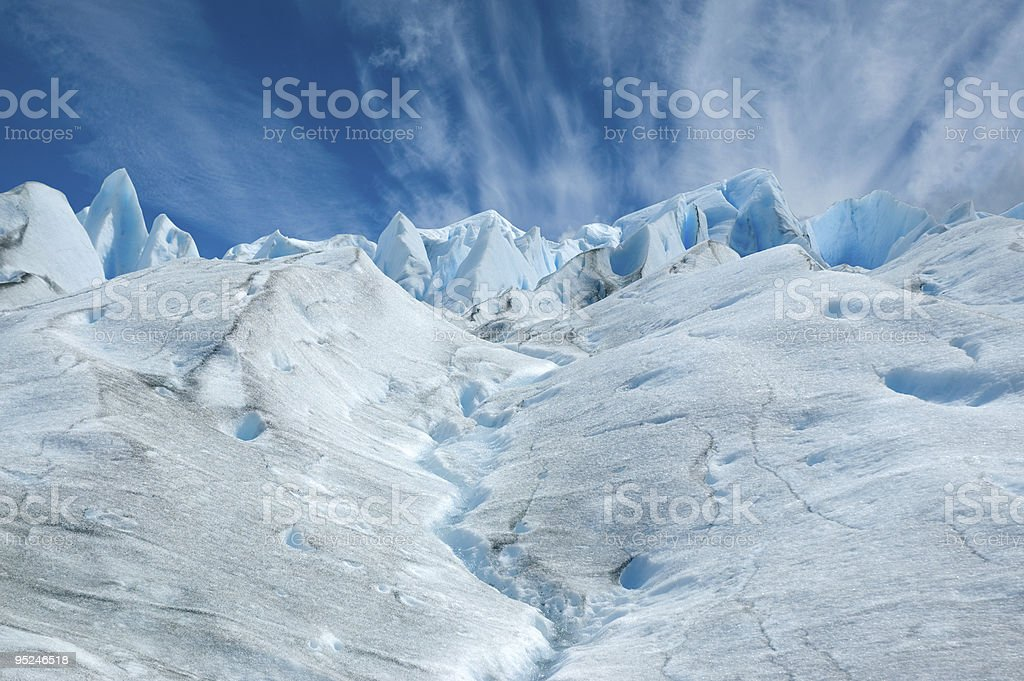 Surface of the Perito Moreno glacier, Argentina. royalty-free stock photo