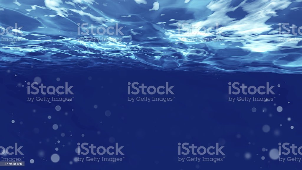 Surface of  under water stock photo