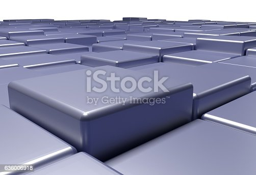 istock surface of uneven tiles brick or cubes, 3d illustration 636006918