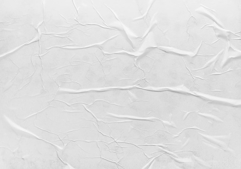 Surface of wet crumpled glued paper. Useful for poster or banner design