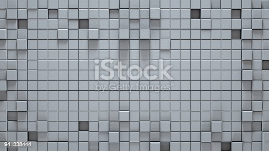 istock Surface of white 3D cubes abstract background 941338444