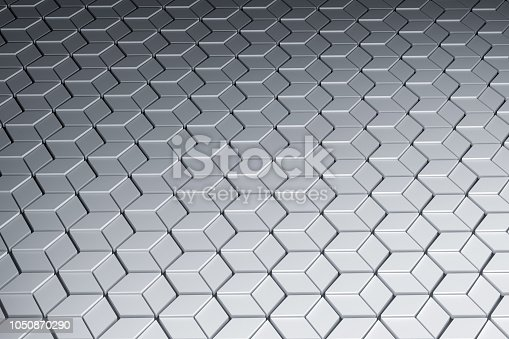 istock Surface with hexagonal pattern 1050870290