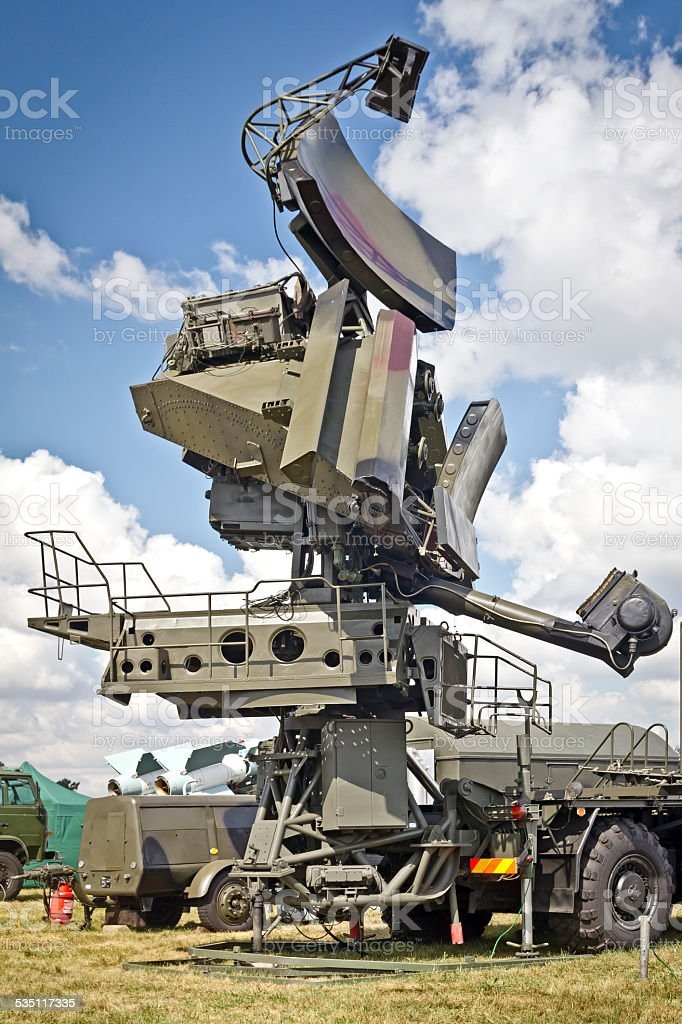 Surface-to-air missile radar stock photo