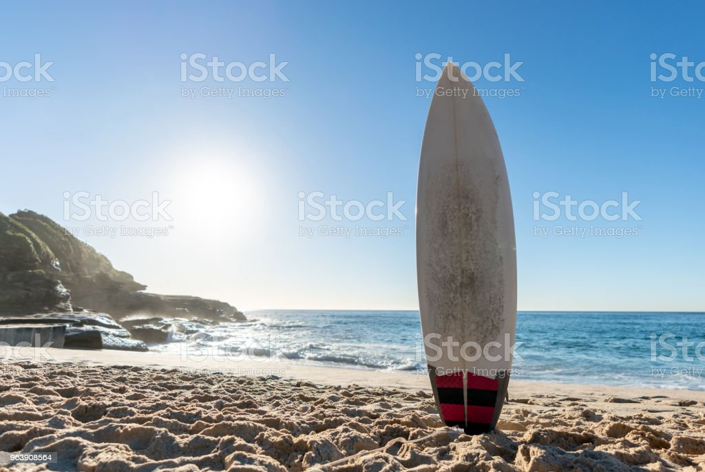 Surfboard at the beach - Royalty-free Athleticism Stock Photo