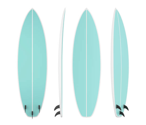 surfbrett, isoliert - digital surfer stock-fotos und bilder