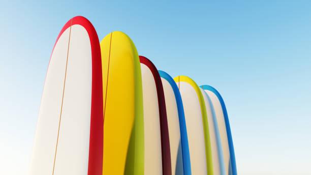 surfboard longboard - digital surfer stock-fotos und bilder