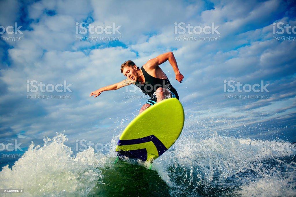 Surfboarder stock photo