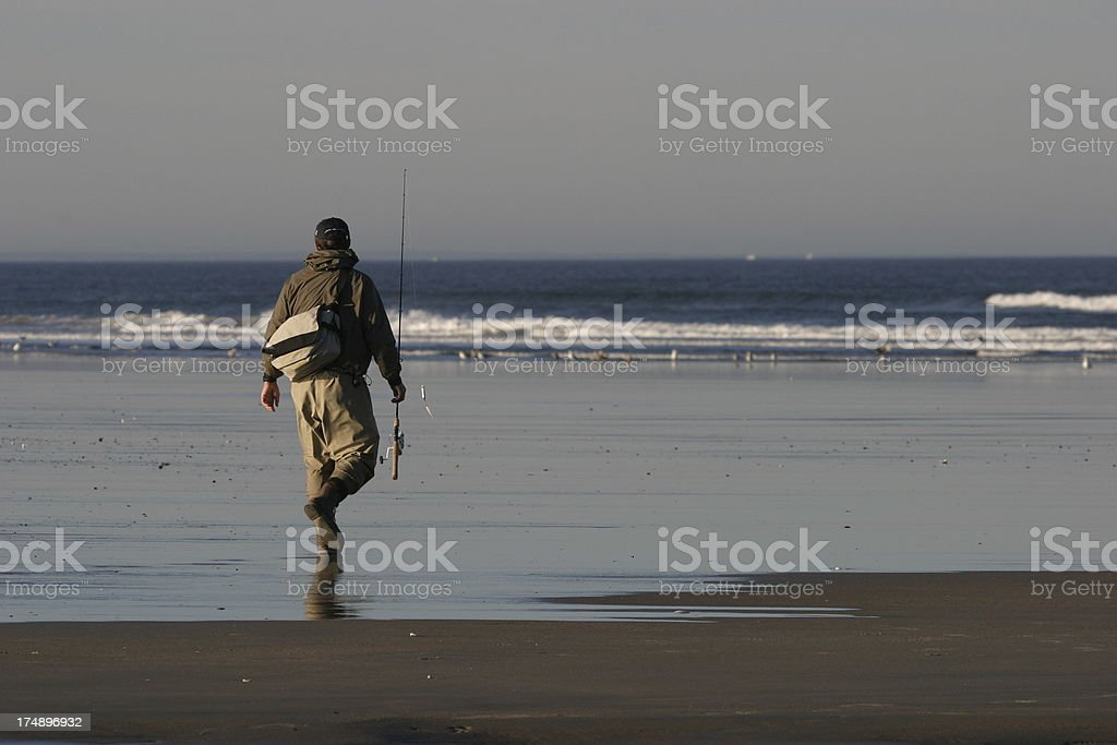 Surfcaster Fisherman royalty-free stock photo