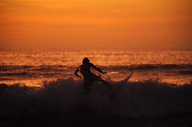 Surfer am Kuta beach – Foto