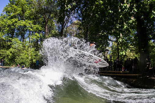 Surfer at the Eisbach