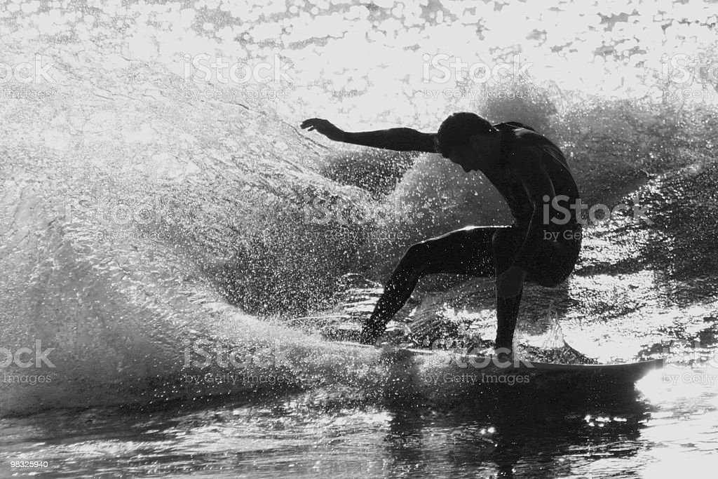 surfer back lit royalty-free stock photo