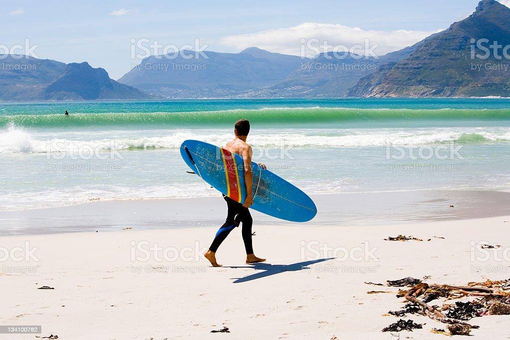 Surfer, die Wellen - Lizenzfrei Abgeschiedenheit Stock-Foto
