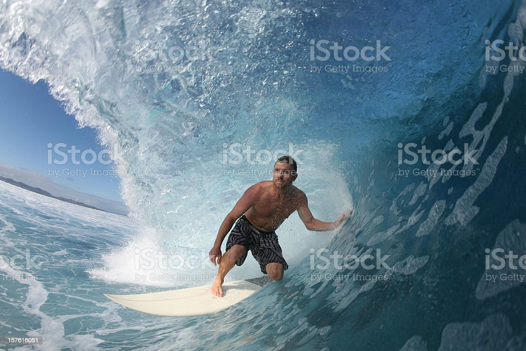 surfer close up on a wave stock photo