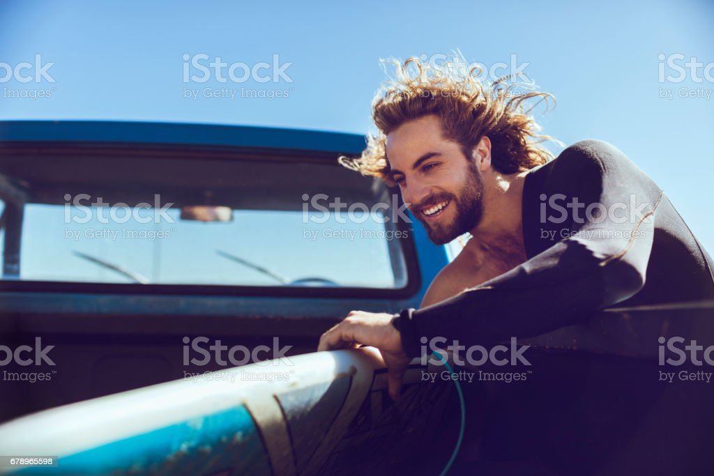 Surfer getting ready royalty-free stock photo